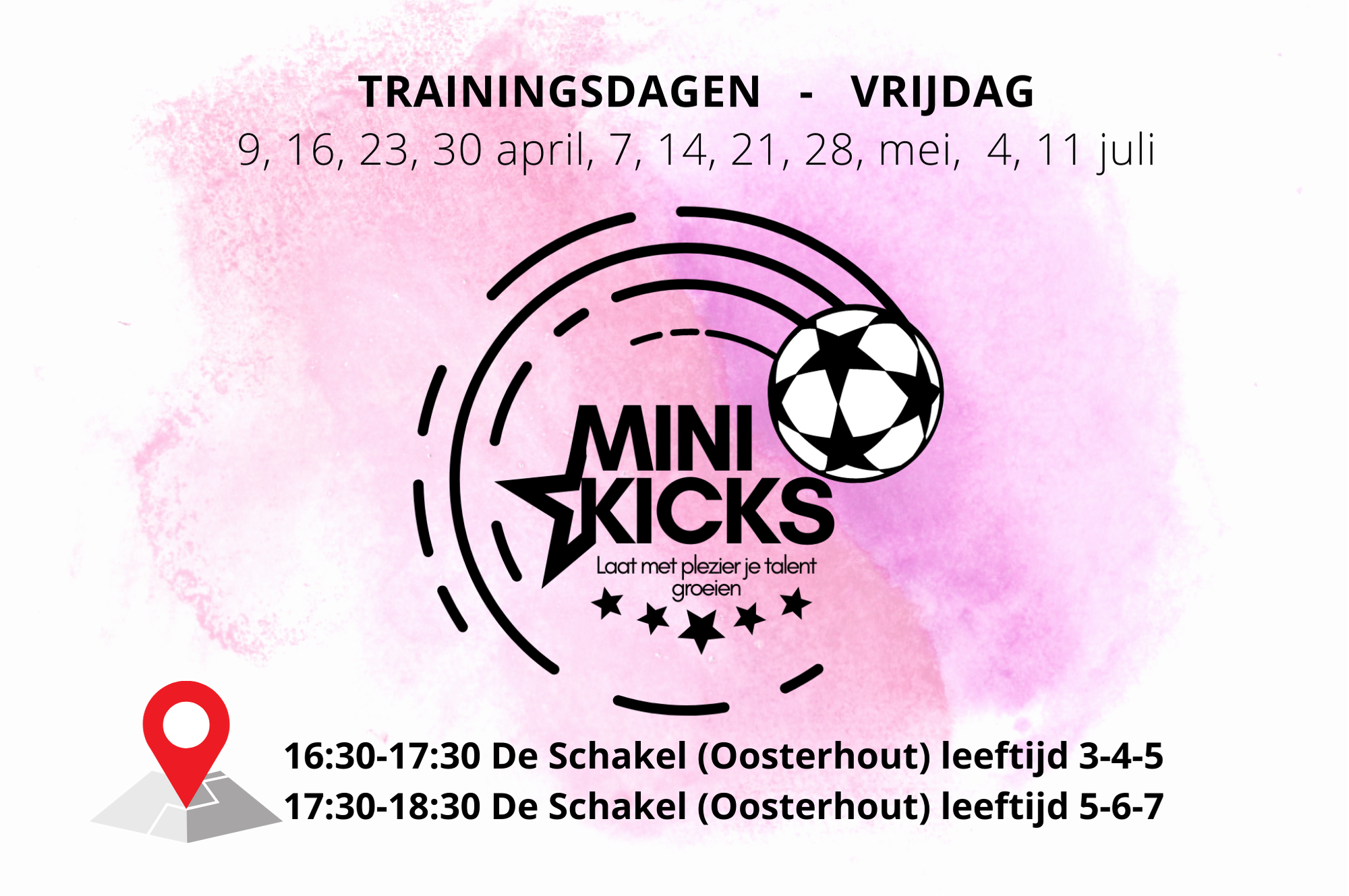 Voetbaloa Mini Kicks Nijmegen Oosterhout